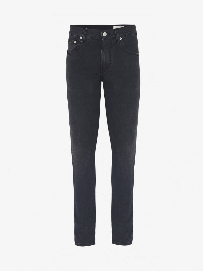 Display a large version of the product image 1 - McQueen Embroidered Jeans