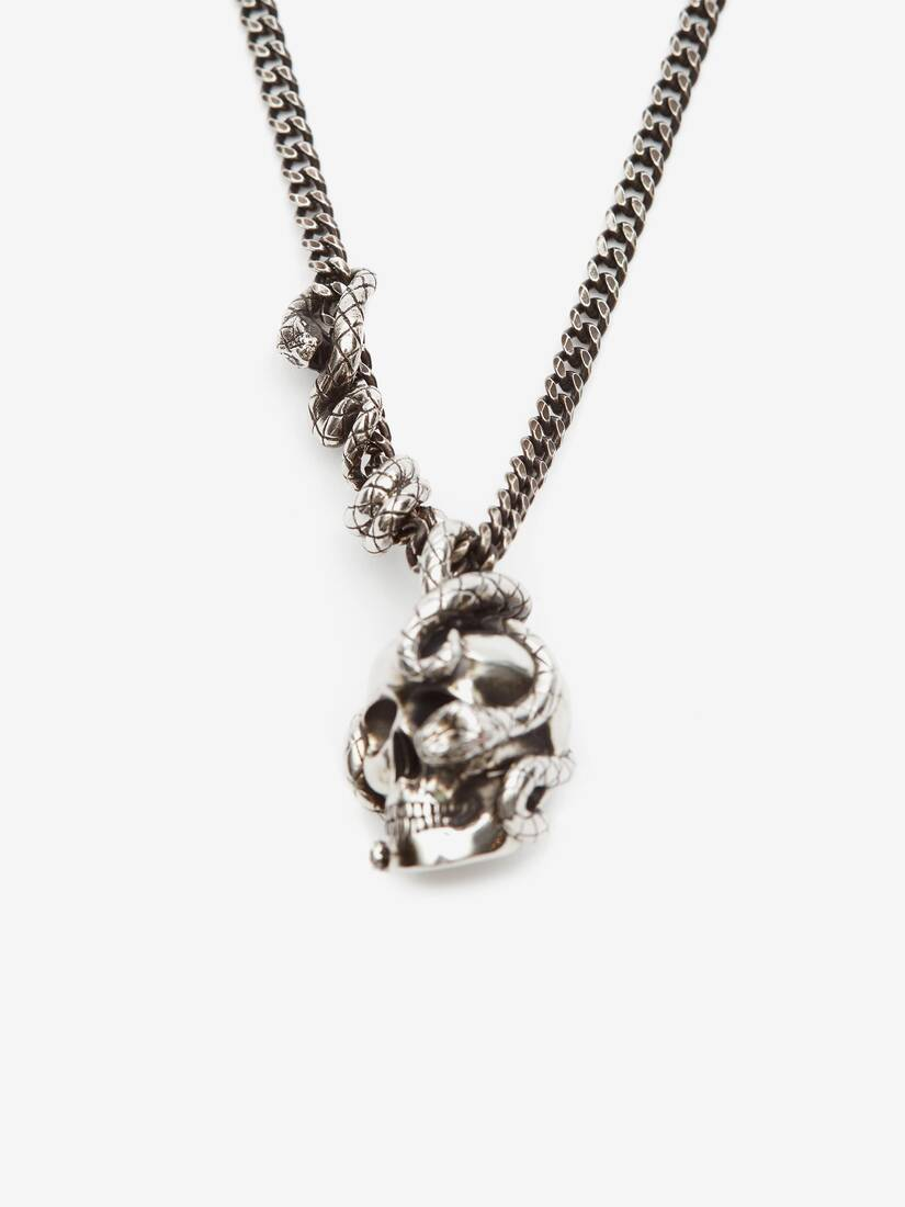 Display a large version of the product image 2 - Skull and Snake Necklace