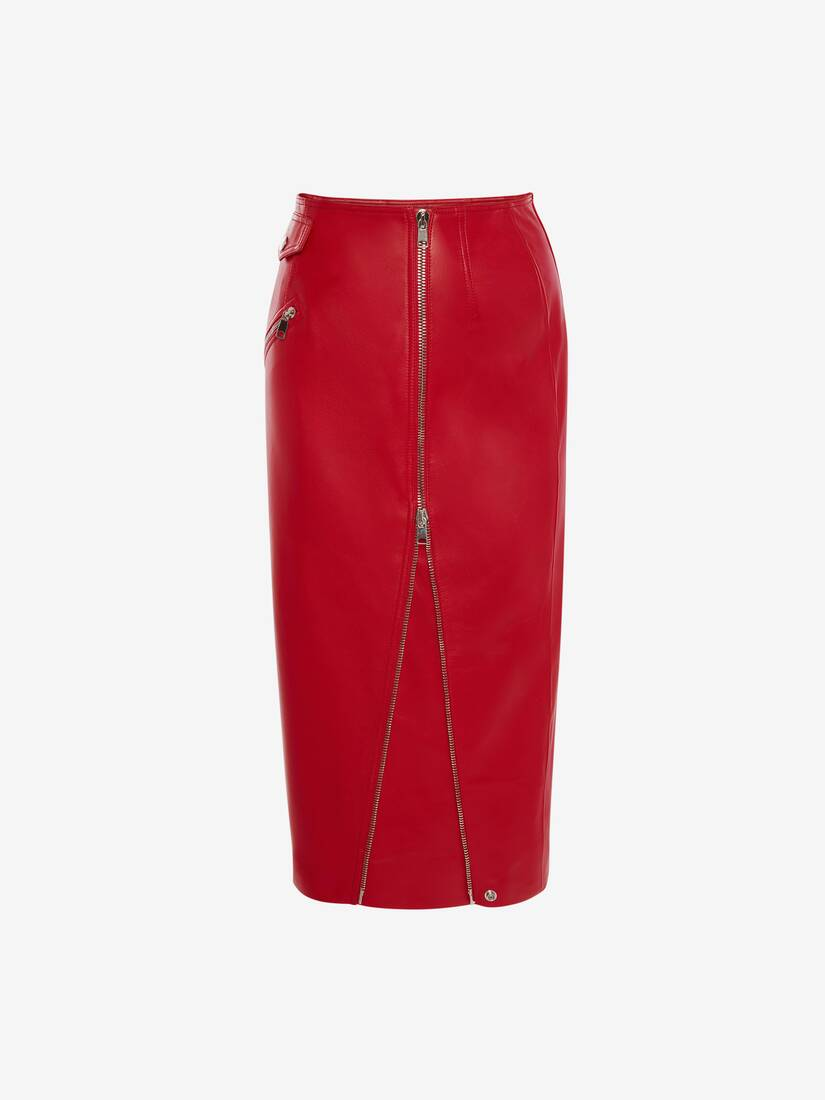 Display a large version of the product image 1 - Leather Pencil Skirt