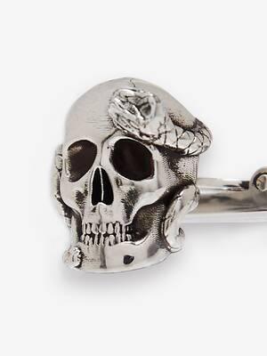 Boutons de manchette Skull et Snake