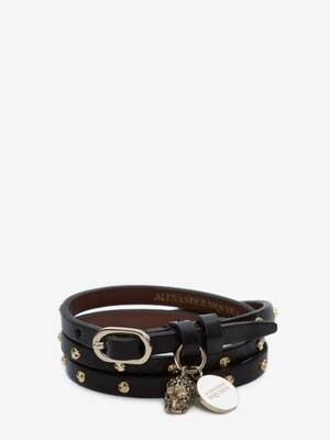 Double-Wrap Studded Bracelet