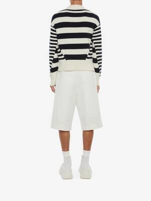 Cotton Gabardine Baggy Tailored Shorts