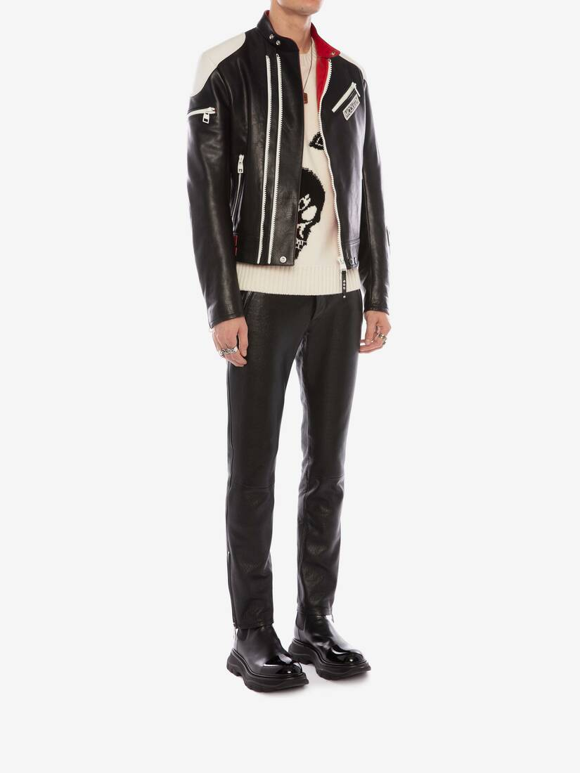 Display a large version of the product image 3 - McQueen Classic Leather Biker Trousers