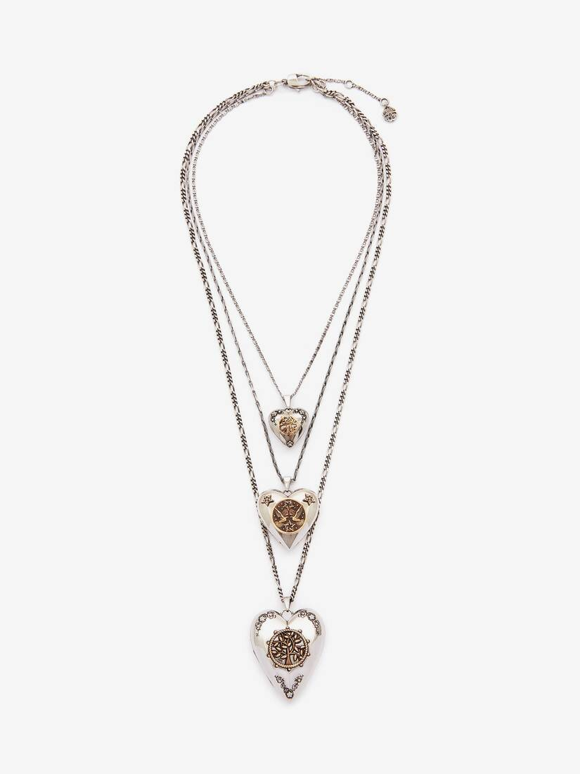 Triple Layer Heart Necklace