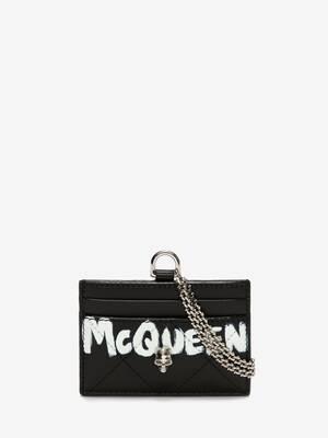 McQueen Graffiti Card Holder with Chain