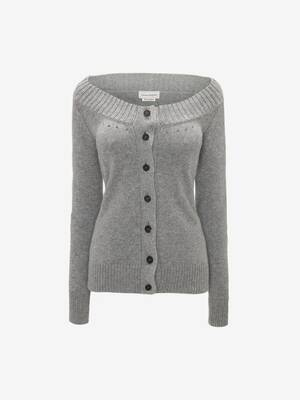 Scoop Neck Cashmere Cardigan