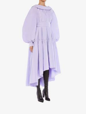 Cotton Silk Poet Sleeve Dress