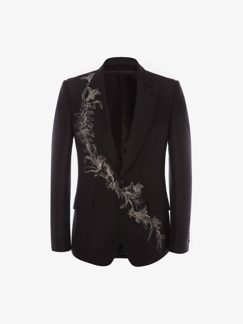 Display a large version of the product image 1 - Floral Sash Jacquard Jacket