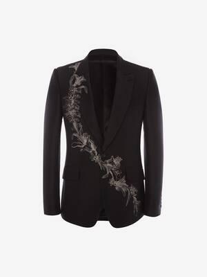 Floral Sash Jacquard Jacket