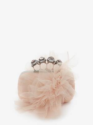Spider Jewelled Four-Ring Box Clutch