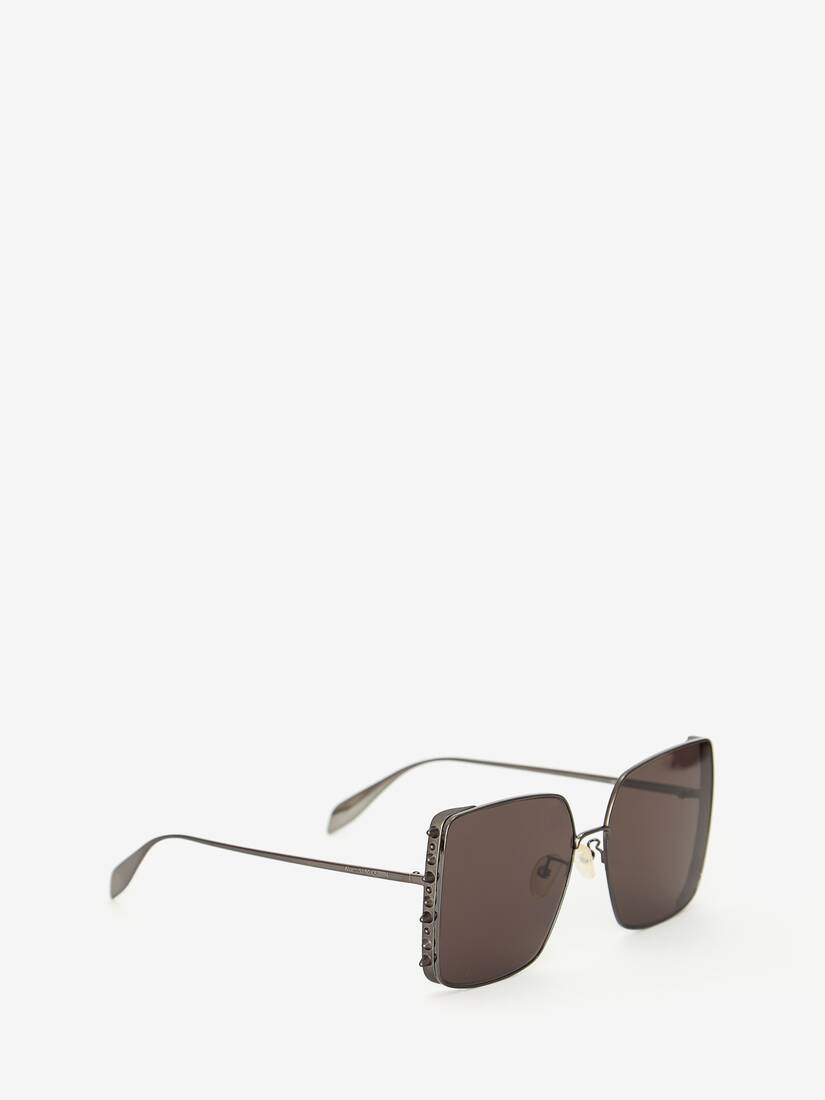Punk Stud Square Sunglasses