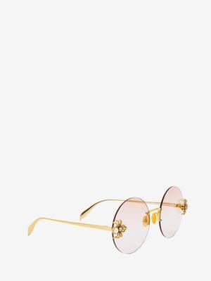 Spider Jewelled Round Sunglasses