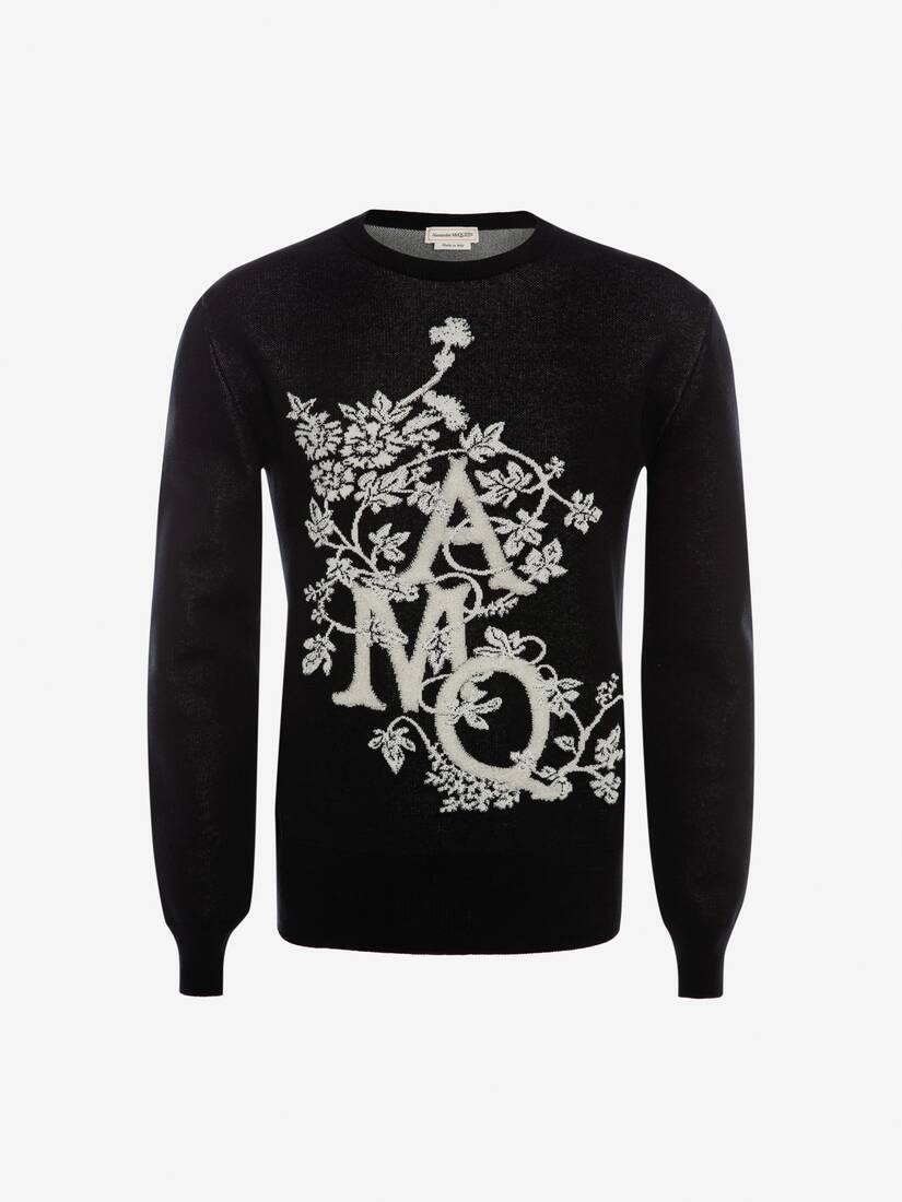 Display a large version of the product image 1 - Ivy Monogram Crew Neck Jumper