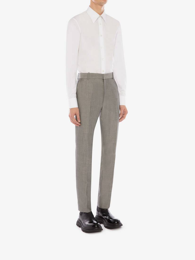 Display a large version of the product image 4 - McQueen Classic Shark Wool Mohair Trousers