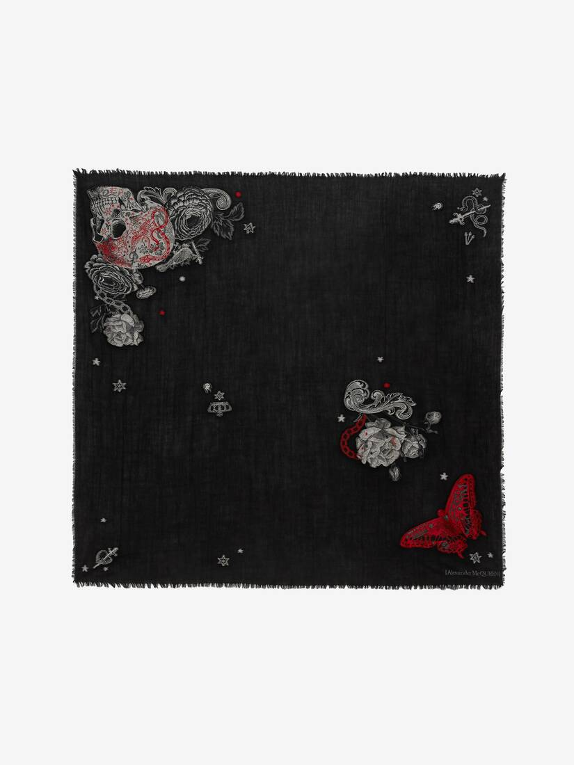 Display a large version of the product image 1 - Tattoo Skull Shawl