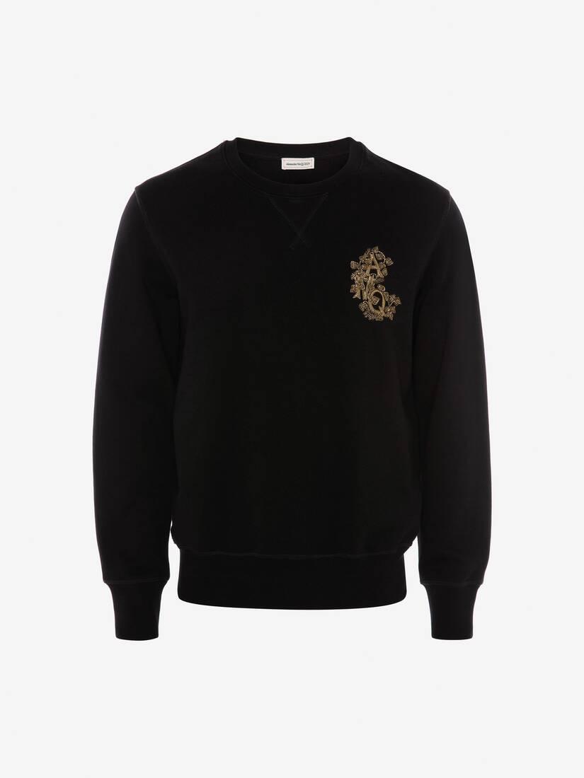 大きな製品イメージを表示する 1 - クリスタル エンブロイダード スウェットシャツ