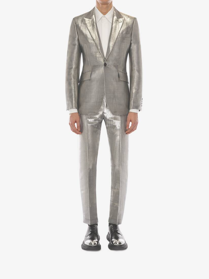 Display a large version of the product image 2 - Metallic Moiré Tuxedo Jacket