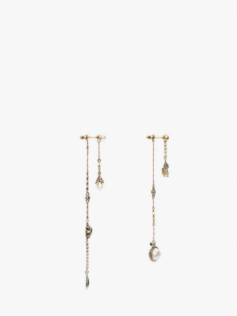 Display a large version of the product image 2 - Signature Chain Drop Earrings