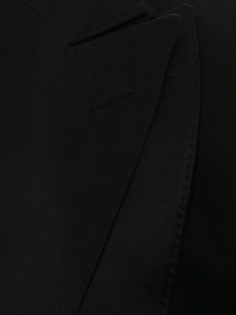 Display a large version of the product image 5 - Wool Gabardine Trompe L'œil Tuxedo Jacket