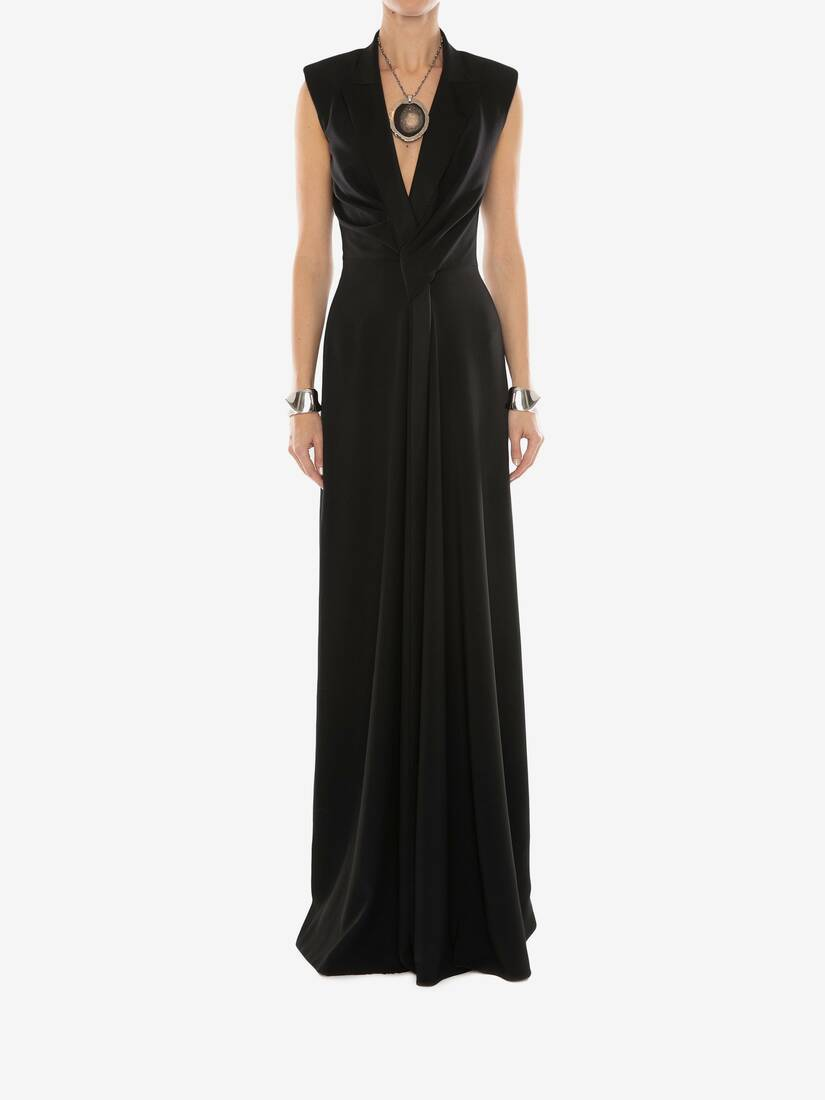 Display a large version of the product image 2 - Tuxedo Drape Evening Dress