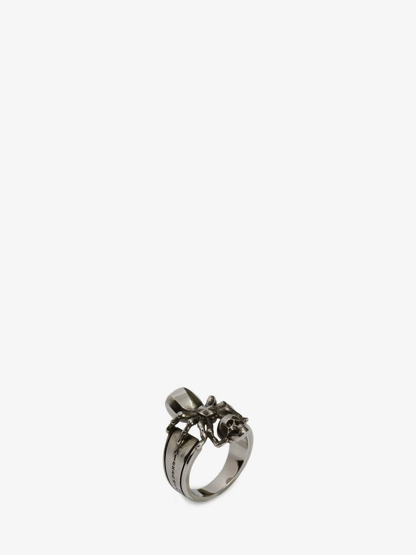 Display a large version of the product image 2 - Spider Skull Ring