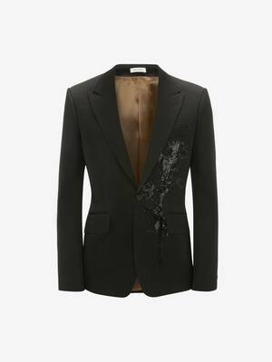 Jet Thistle Embroidered Tuxedo Jacket