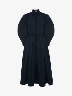Cotton Poplin Harness Midi Dress