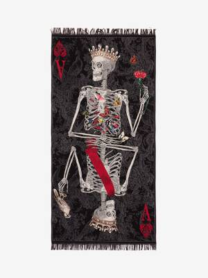 Queen of Hearts Skeleton Shawl