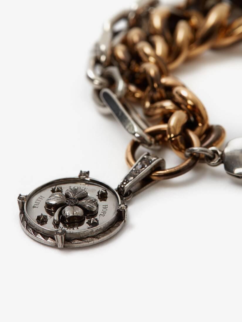 Bracelet à chaîne médaillon