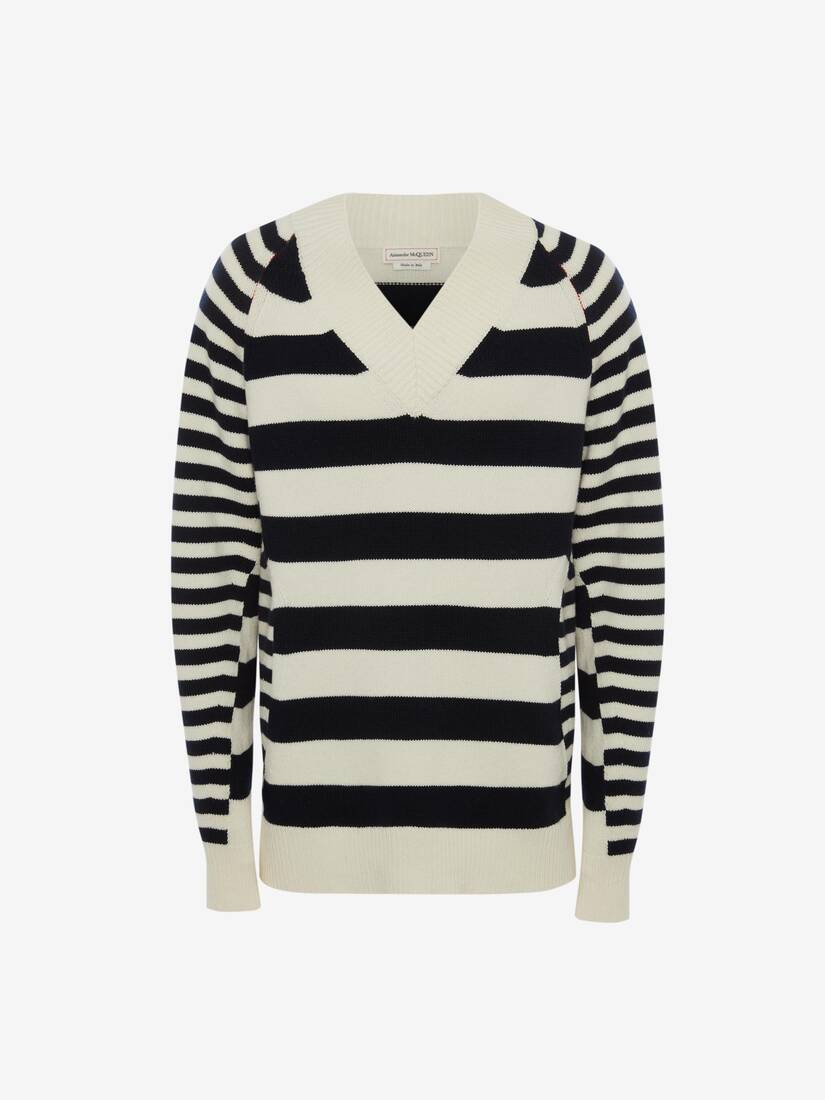 V-Neck Stripe Jumper