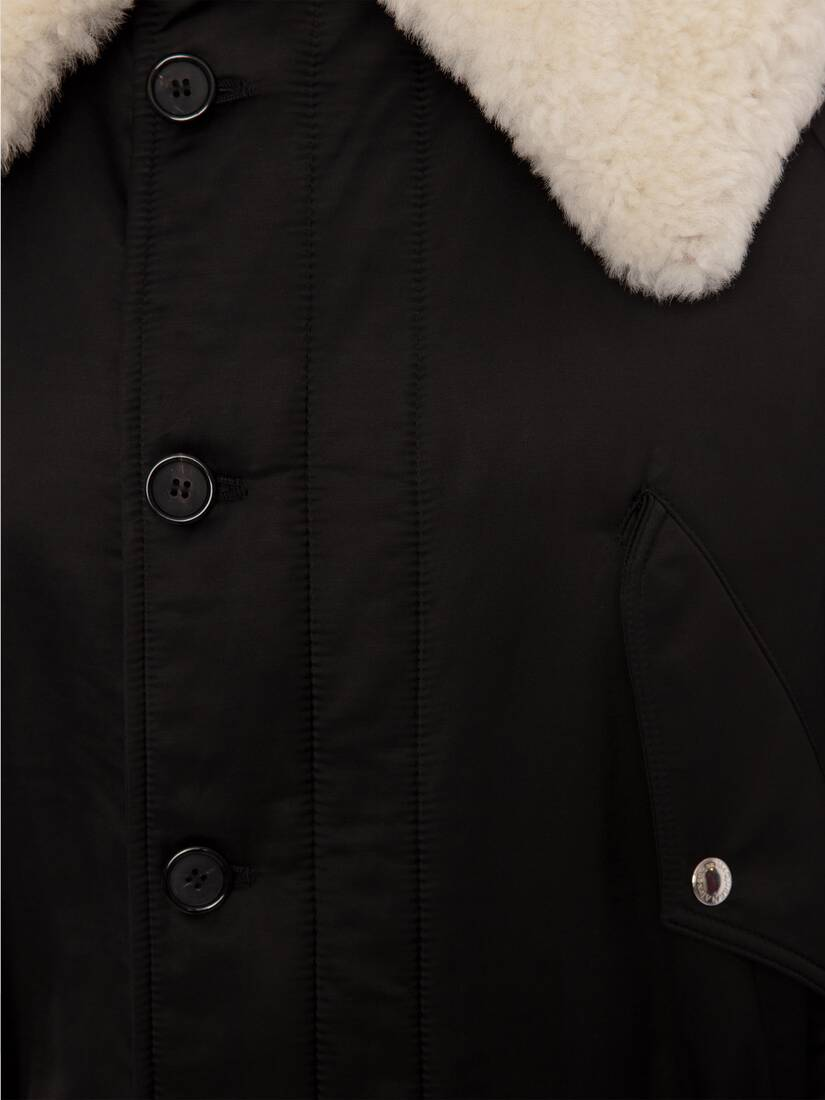 Display a large version of the product image 2 - Shearling Trim Parka