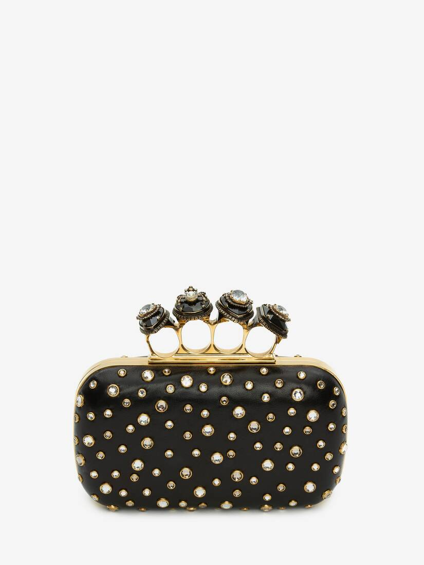 Display a large version of the product image 3 - Box Clutch Spider Jewelled Four-Ring