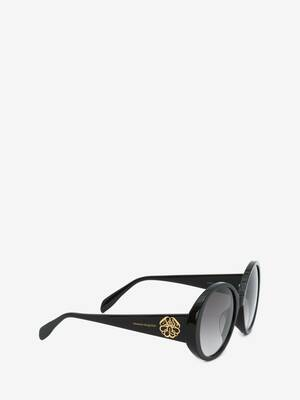 Seal Logo Round Sunglasses