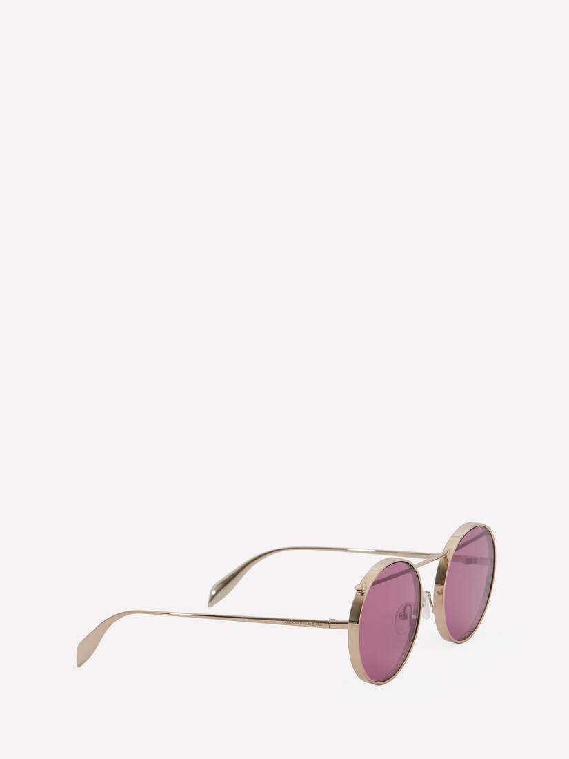 Display a large version of the product image 3 - Piercing Round Metal Sunglasses