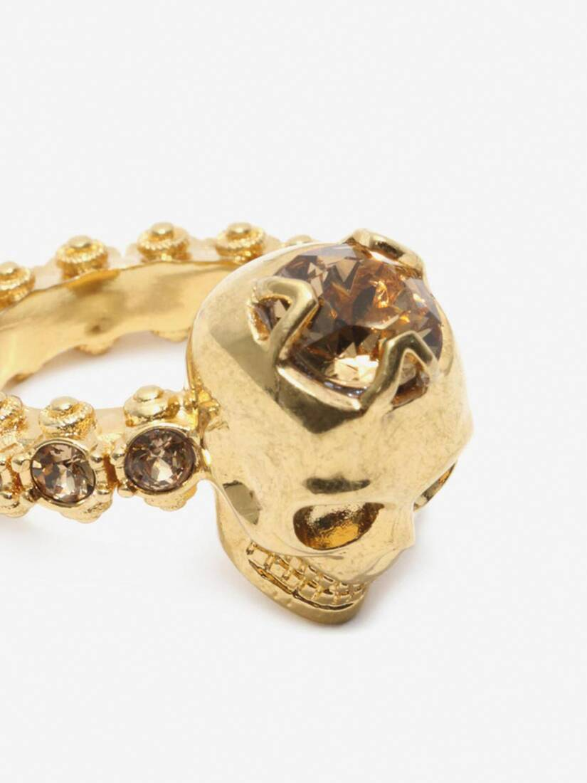 Display a large version of the product image 4 - Anello Skull con Cristalli