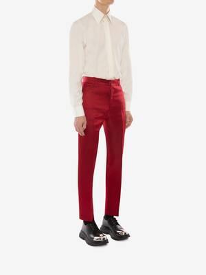 Satin Duchesse Cigarette Trousers