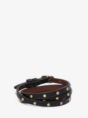 Double-Wrap Studded Bracelet