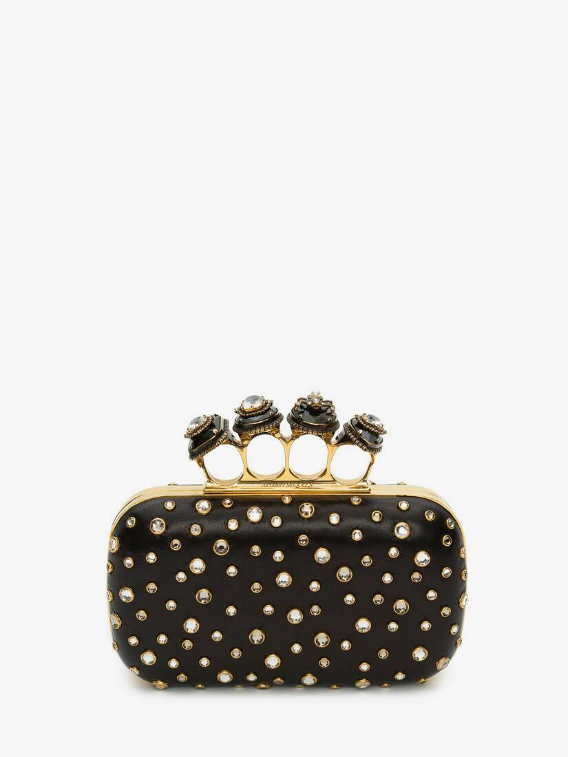 Display a large version of the product image 1 - Box Clutch Spider Jewelled Four-Ring