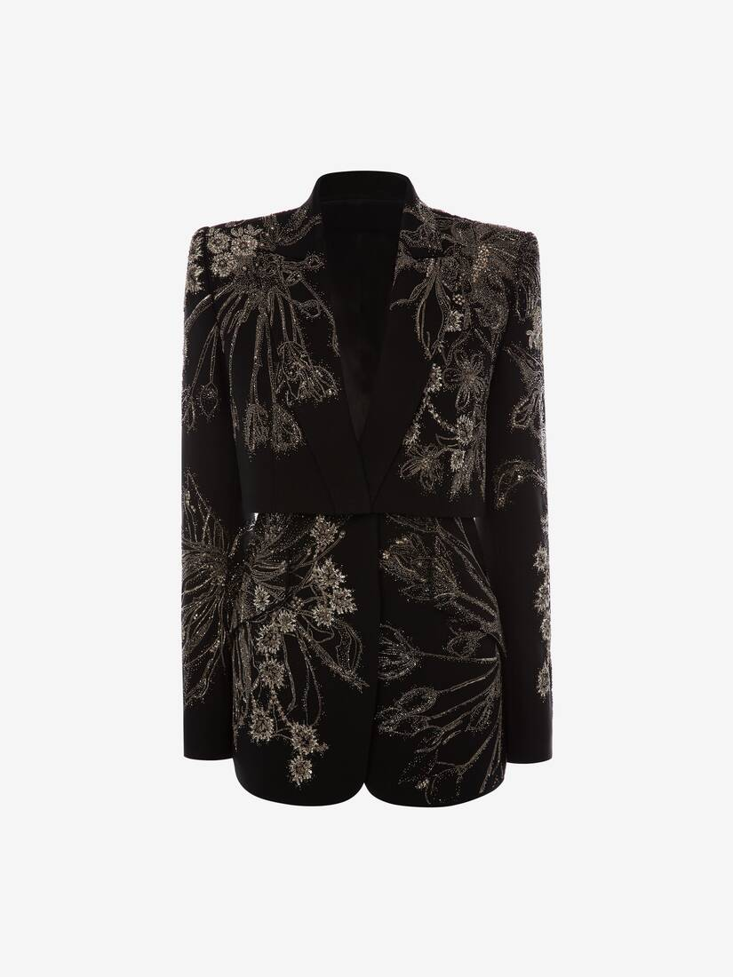 Display a large version of the product image 1 - Endagered Flower Trompe L'Oeil Jacket