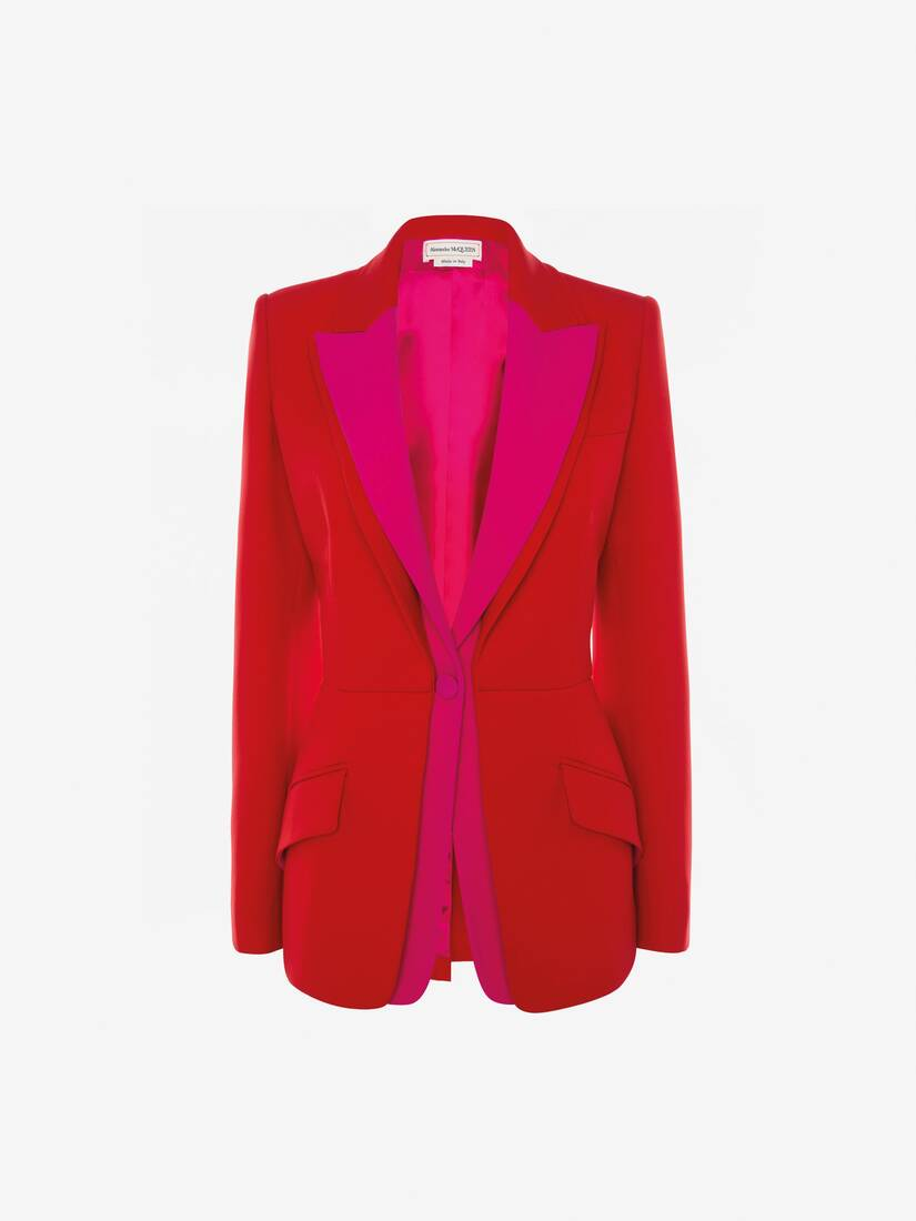 Display a large version of the product image 1 - Double Lapel Light Wool Silk Jacket