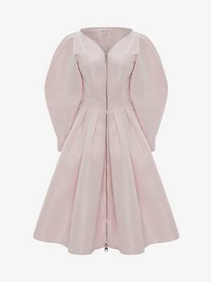 Cocoon Sleeve Polyfaille Midi Dress