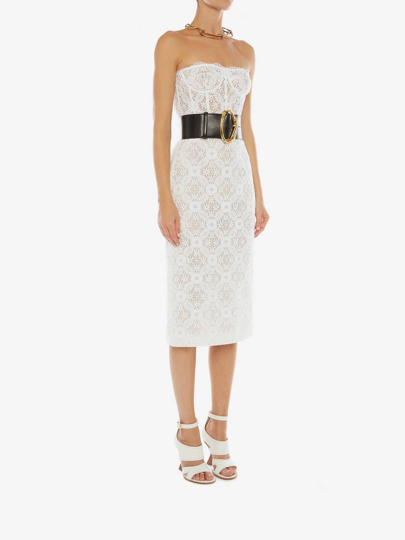 Display a large version of the product image 3 - Endangered Flower Lace Pencil Skirt