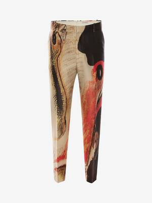 Henry Moore Printed Trousers