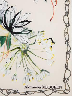 Endangered Flower Silk Scarf