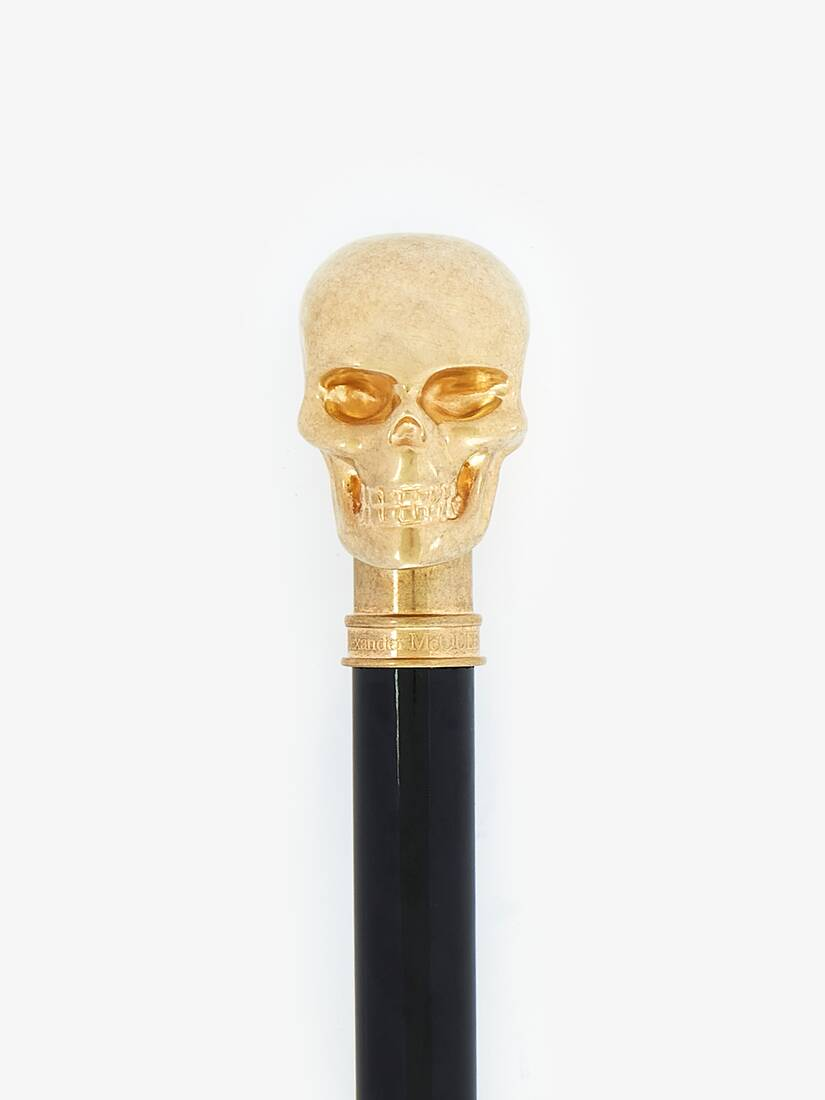 Display a large version of the product image 2 - Gold Dandy Skull Cane