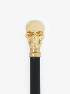 Canne de dandy avec skull doré