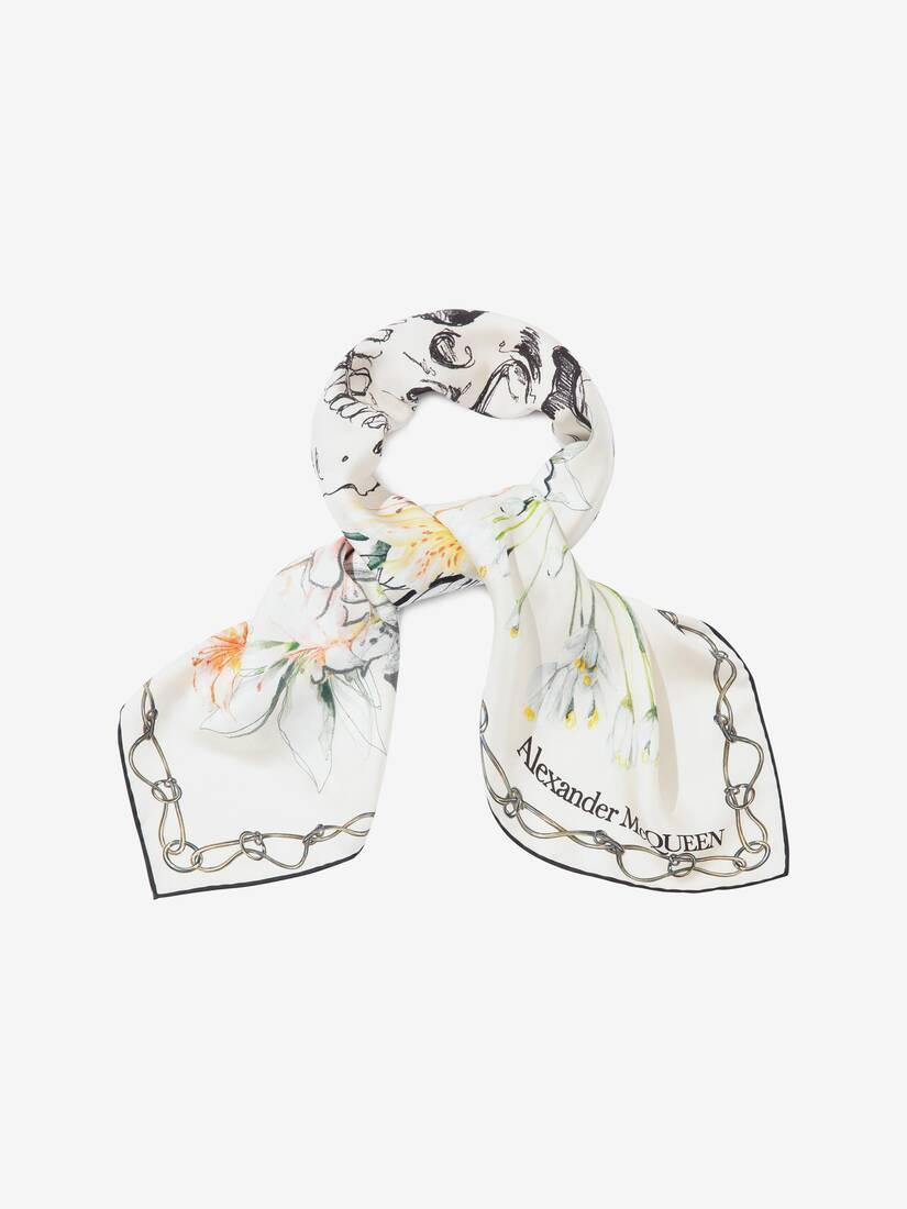大きな製品イメージを表示する 2 - エンデンジャード フラワー シルク スカーフ