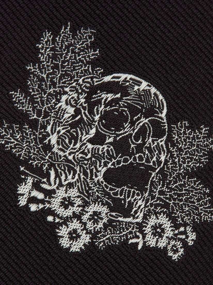 Display a large version of the product image 3 - Embroidered Ivy Skull Tie