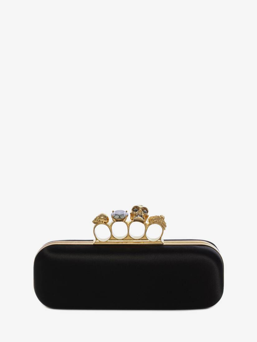 Display a large version of the product image 1 - Satin Four Ring Clutch