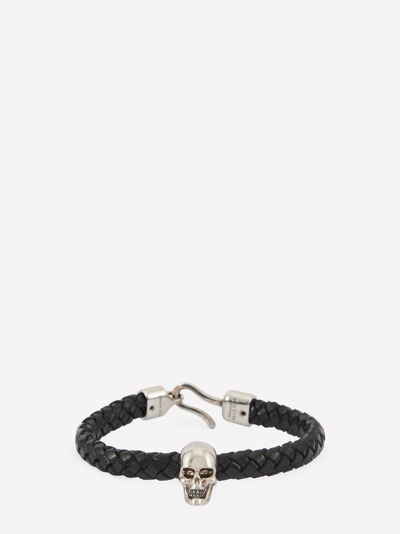 Display a large version of the product image 1 - Skull Leather Bracelet